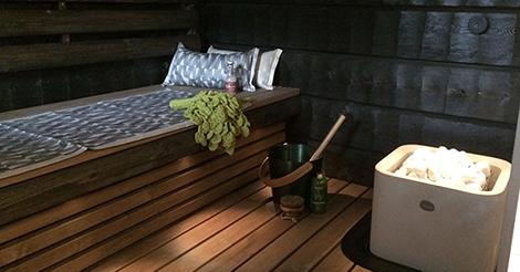 Sauna on rentoutumisen paikka
