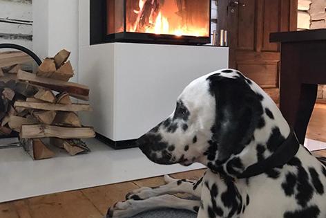 Tulikivi Palas takka lämmittää kesäkodin